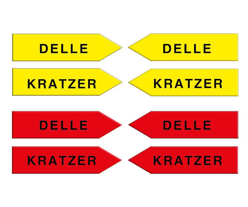 "Magnetpfeile 100 mm, gelb/rot, ""Sortiment KD"""