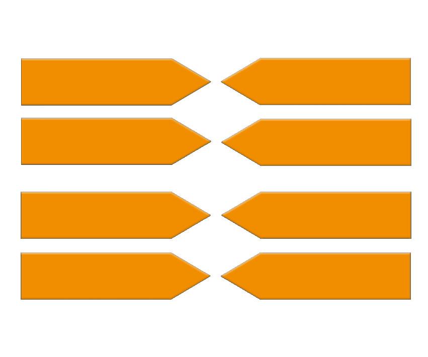 Magnetpfeile 100 mm, orange