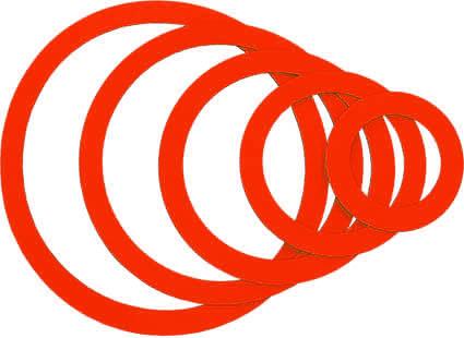 Magnetringe, rot