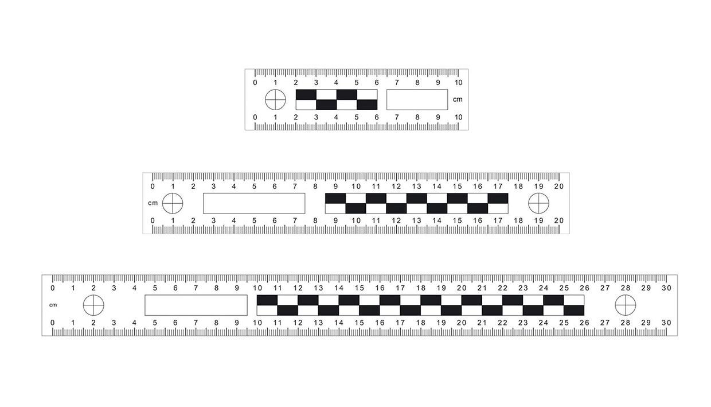 Messlineal-Set, 10/20/30 cm, magnetisch