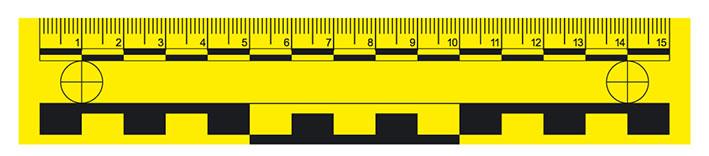 Messlineal, 15 cm, magnetisch, gelb