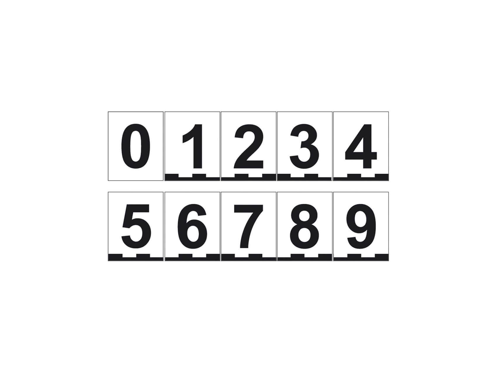Magnetnummern-Set, 4 × 5 cm, Zahlen 0–9