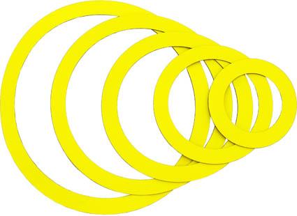 Magnetringe, gelb