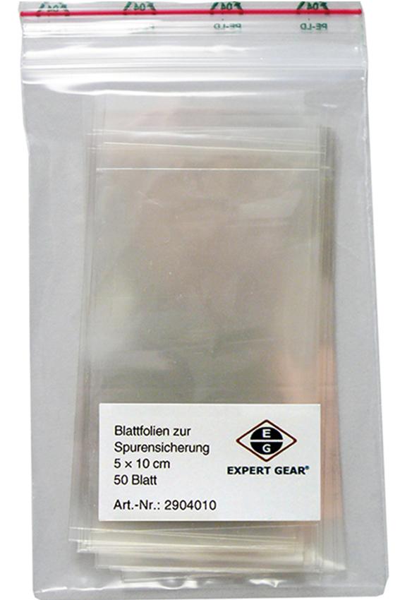 Blattfolien zur Spurensicherung (5 x 10 cm)