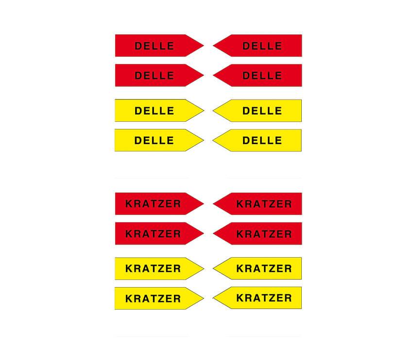 "Haftpfeile gelb/rot, 100 mm, ""Sortiment KD"""