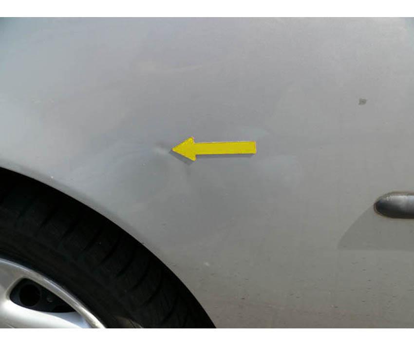 Magnetpfeile 75 mm, gelb