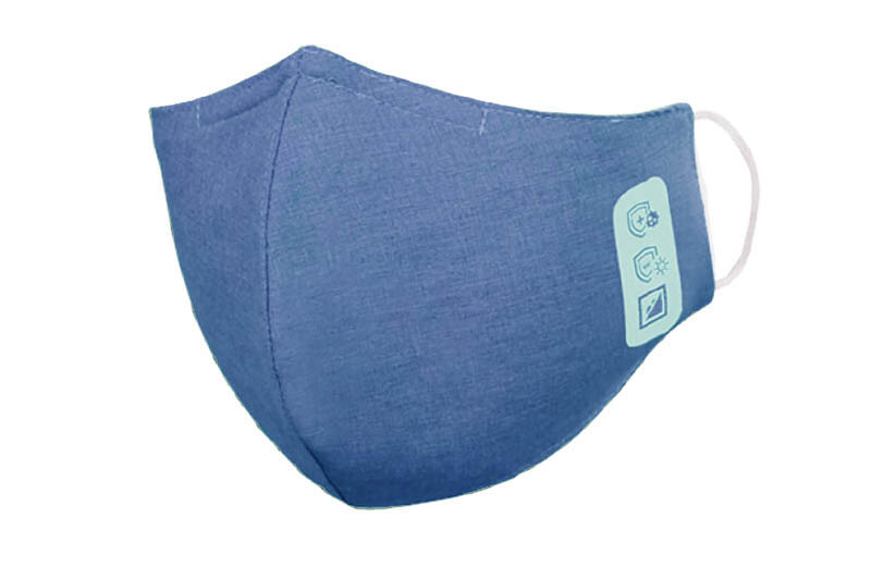 Mund-Nasenschutz, 3-lagig, Stoff, blau