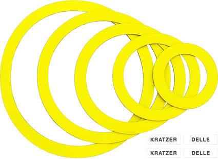 """Magnetringe gelb, """"Sortiment KD"""", inkl. Magnetlabels weiß"""