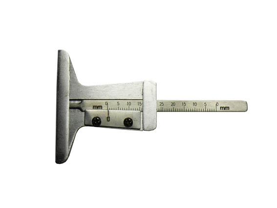 Profiltiefenmesser mit Fuß, Stahl