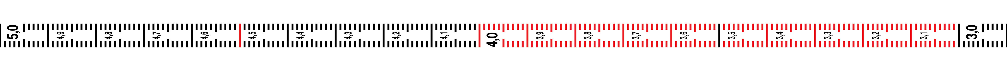 Magnet-Maßband, 5 m × 5 cm, flexibel