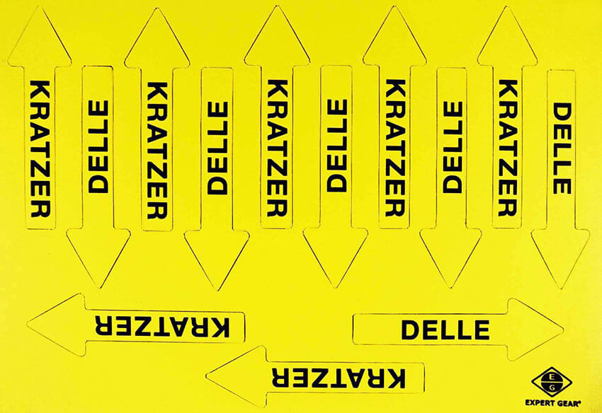"""Magnetpfeile 75 mm, gelb, """"Sortiment KD"""""""