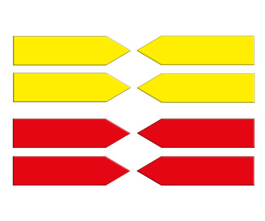 Magnetpfeile 100 mm, gelb/rot