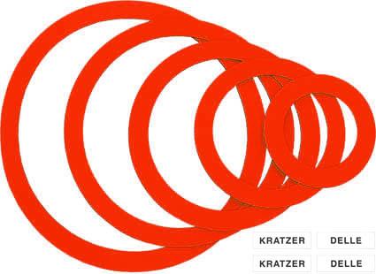 """Magnetringe rot, """"Sortiment KD"""", inkl. Magnetlabels weiß"""