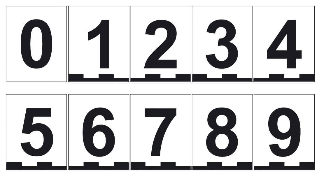 Magnetnummern-Set, 8 × 10 cm, Zahlen 0–9