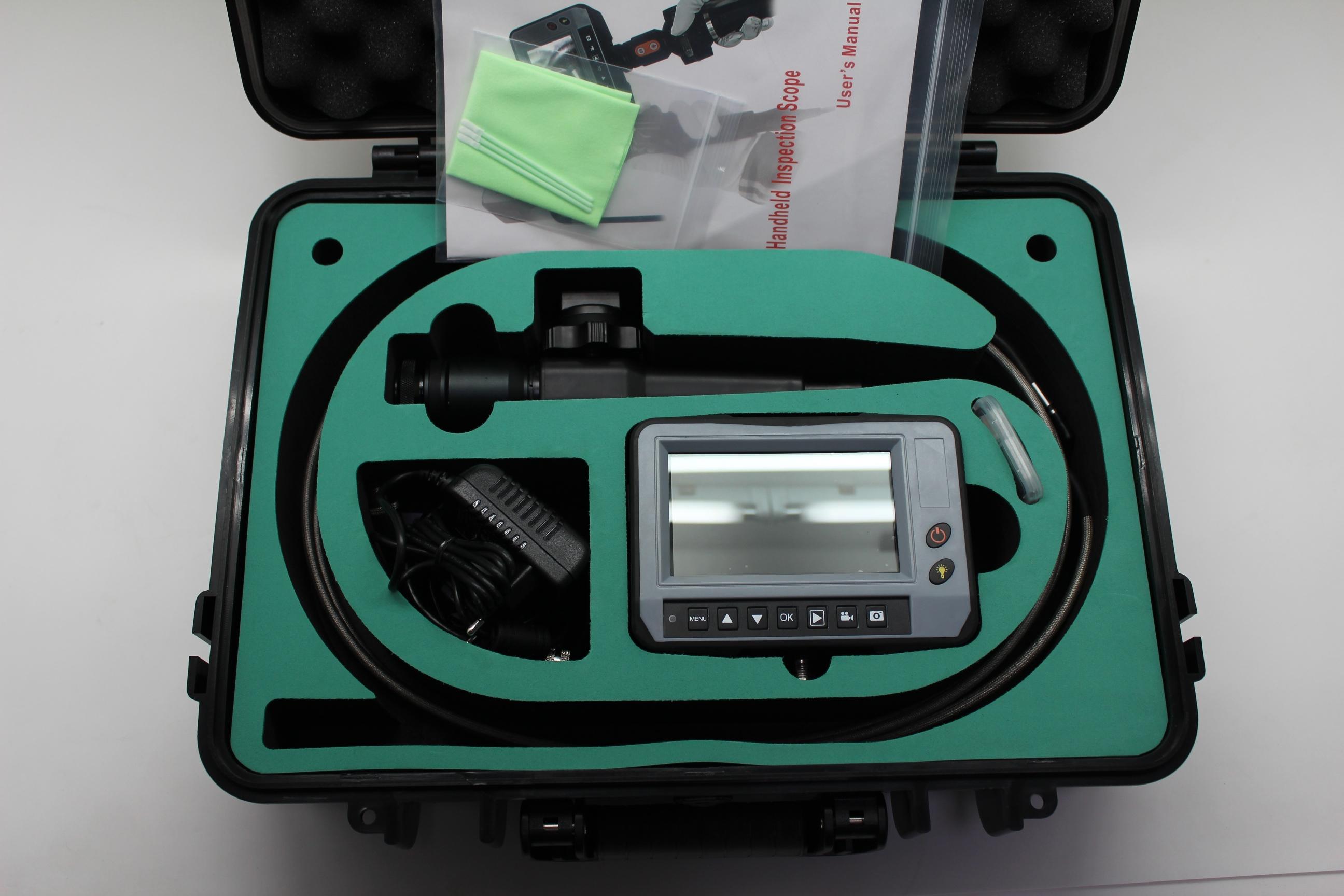 """4,3"""" Video-Endoskop TTS-S08, ∅ 2,8 mm, mit beweglicher Sondenspitze"""