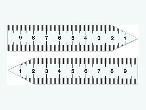 Zeigerlineal-Set, 10 cm, magnetisch, klein