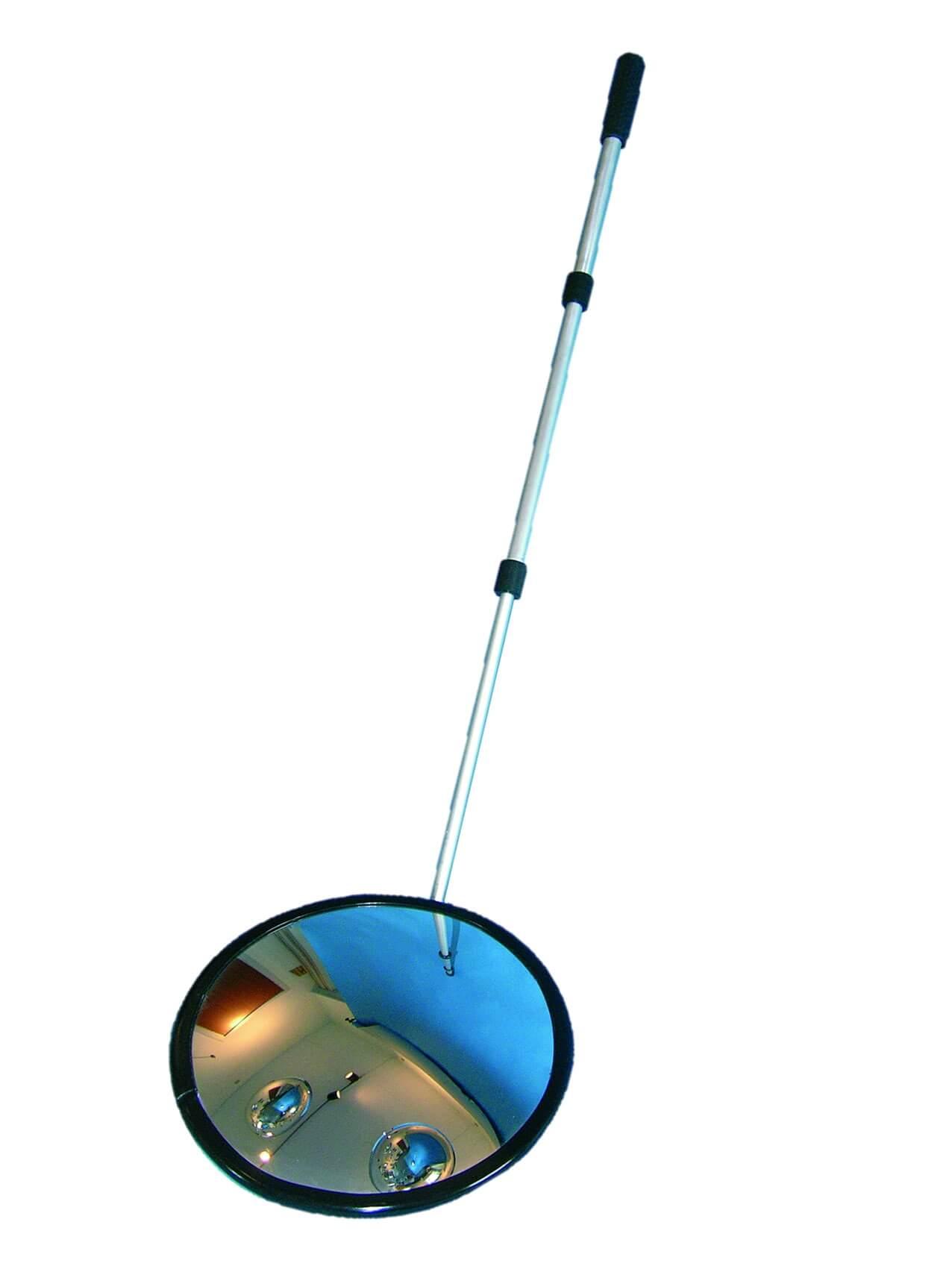 Inspektionsspiegel rund 35 cm, mit Rollenfüßen